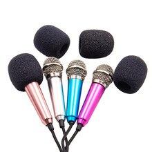 Mini Microphone Portable 3.5mm Stereo Studio Mic KTV Karaoke For Smart Phone Laptop PC Desktop Handheld Audio Microphone