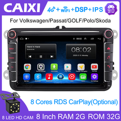 Магнитола Caixi для VW Passat B7 B6, мультимедийный видеоплеер на Android 9,0 с GPS, DVD, аудио, радио, для VW Passat B7 B6, Golf, Touran, Polo Sedan, Tiguan, jetta, типоразмер 2 din