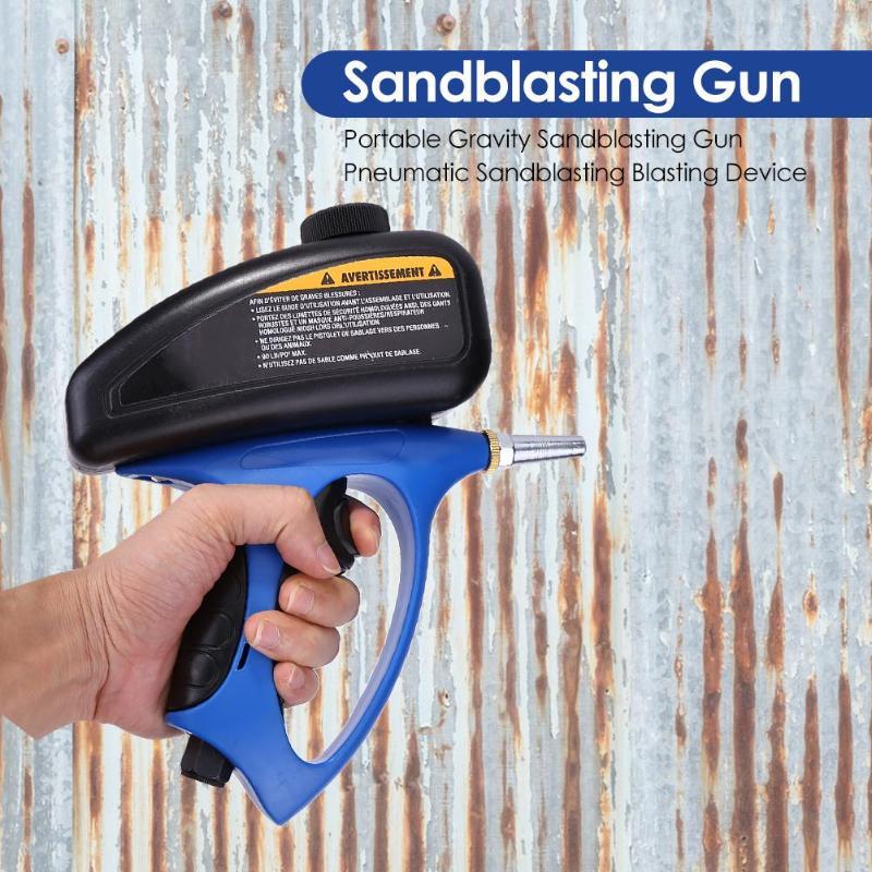 Handheld Pneumatic Anti-rust Sandblaster Protection Sand Gravity Sandblasting Gun Mini Air Sandblaster Tools