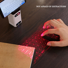 Bluetooth laser projection keyboard + mouse (set) + mobile phone bracket + mobile power creative gift клавиатура клавиатура для