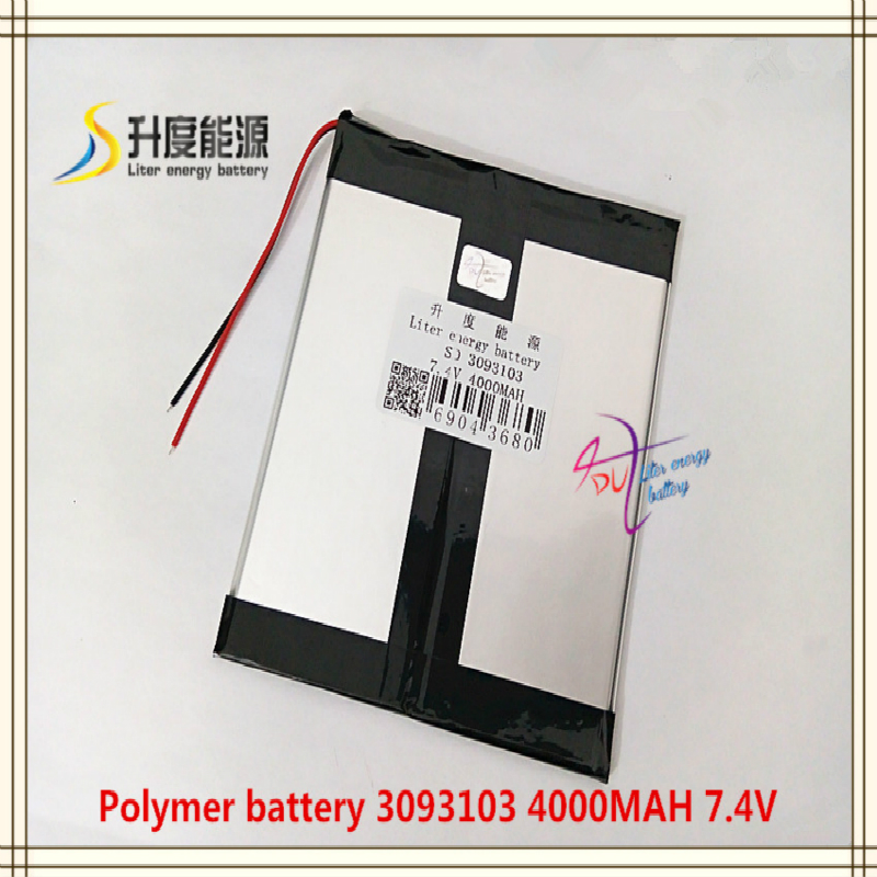 <font><b>7.4V</b></font> <font><b>4000mAH</b></font> 3093103 Polymer lithium ion <font><b>battery</b></font> for mobile bank mp4 cell phone tablet pc power bank mp3 image