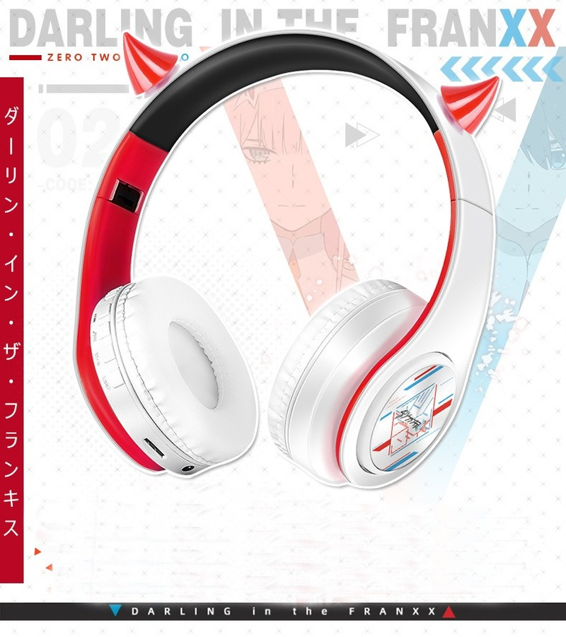 Anime Darling in the FranXX Wireless 2 in1 Bluetooth Headset Zero Two Cosplay Comfortable Stereo Foldable Gaming Headphones Gift 2