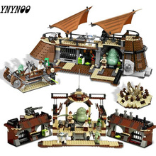 """821 шт 05090 Совместимые модели Legoinglys Star Wars 6210 Jabba Парусная баржа строительные блоки кирпичи для мальчиков подарок на день рождения игрушка """"Звездные войны"""""""