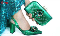 doershow New Arrival Italian Shoe and Bag Set for Party In Women Luxury Shoes Women Designers Nigerian Women Party Pumps with Purse!SAC1 16