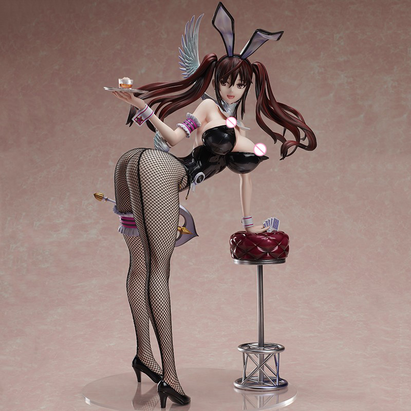 Erika Kuramoto Native 35cm Bunny Girls Pure White Magical Girl RAITA Soft Chest Sexy Girls Action Figures Toys Anime Figure Toys