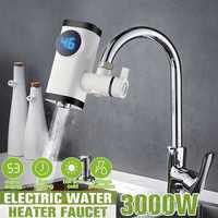 3000W Küche Wasserhahn Instant Heißer Wasser Digital LCD Display Elektrische Wasserhahn Wasser Heizung Elektrische Tankless Schnelle Heizung Wasserhahn