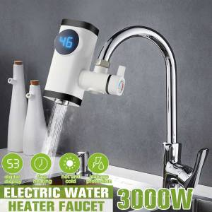 Electric Faucet Lcd-Display Water-Heater Kitchen Instant 3000W Hot-Water Digital