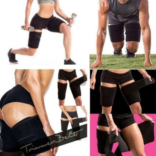 1PC Men Women Leg Shaper Sauna Sweat Thigh Adjustable Leggings Weight Loss Slimming Wraps Legs Thermo Neoprene Compress Belt 3
