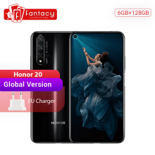 Global Version Honor 20 Smartphone 6G 128G Kirin 980 Octa Core 48MP Four Cameras Mobile