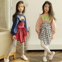 New 2019 Spring Baby Girls Dresses Girl Plaid Dress Patchwork Kids Cotton Dresses Parent Child Clothes Toddler Dresses 3 12y