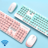 Wireless Keyboard and Mouse Set Retro Punk Typewriter Design for Office PC Desktop Notebook Bluetooth Mac Windows Keyboard Mouse