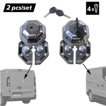 Комплект из 2 предметов, дверной замок для грузовиков, тяжелых условий эксплуатации, гаражный навес, наружное защитное устройство для боков...