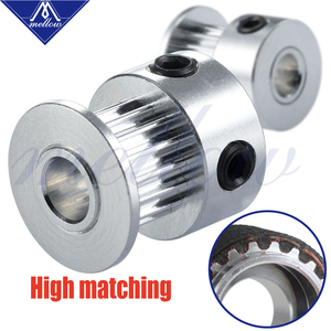 Mellow Customized 2Pcs 3D Printer parts GT2 Pulley 16Teeth/20Teeth 16/20 Teeth Bore 5mm For GATES 2GT 6mm Open Timing Belt(China)