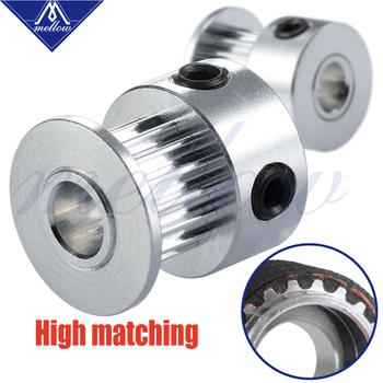 Mellow dostosowane 2 sztuk części drukarki 3D GT2 koło pasowe 16 zęby 20 zęby 16 20 zęby otwór 5mm dla bram 2GT 6mm otwarty pasek rozrządu tanie i dobre opinie Aluminium Alloy GT2 5mm GATES GT2 6mm Open Timing Belt other Ra0 4um