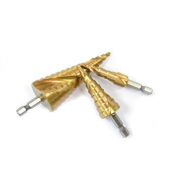 цена на 4-12/20/32mm HSS Spiral Grooved Center Drill Bit Solid Carbide Mini Drill Accessories Titanium Step Cone Drill Bit Hex Core Dril
