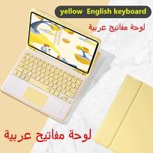 Funda para teclado touchpad árabe, para iPad 8th 10,2 Pro 11 2020 Air 3 10,5 Pro 10,5 7th 10,2, con portalápices y panel táctil