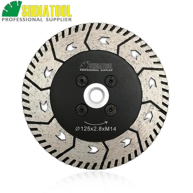 """SHDIATOOL 1pc 115mm or 125mm Diamond Cutting Grindng Disc Dia 4.5"""" or 5"""" Dual Saw Blade Cut Grind Sharpen Granite Marble blades"""
