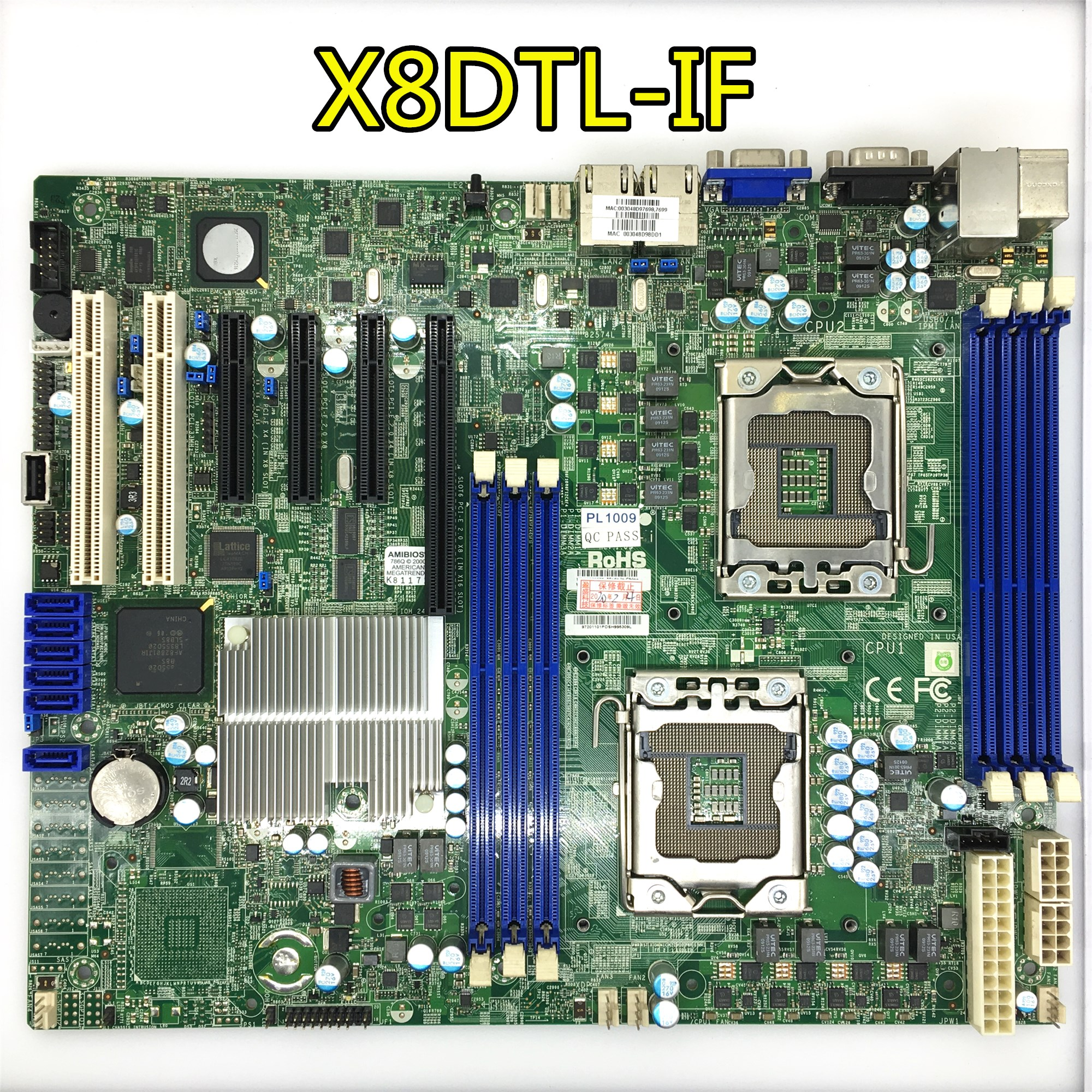 Pre-shipment test  For Supermicro X8DTL-iF server Original Used motherboard