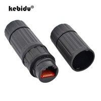 Kebidu M16 IP68 Ethernet Cable de red LAN RJ45 conector hembra a hembra enchufe del adaptador de conector a prueba de agua