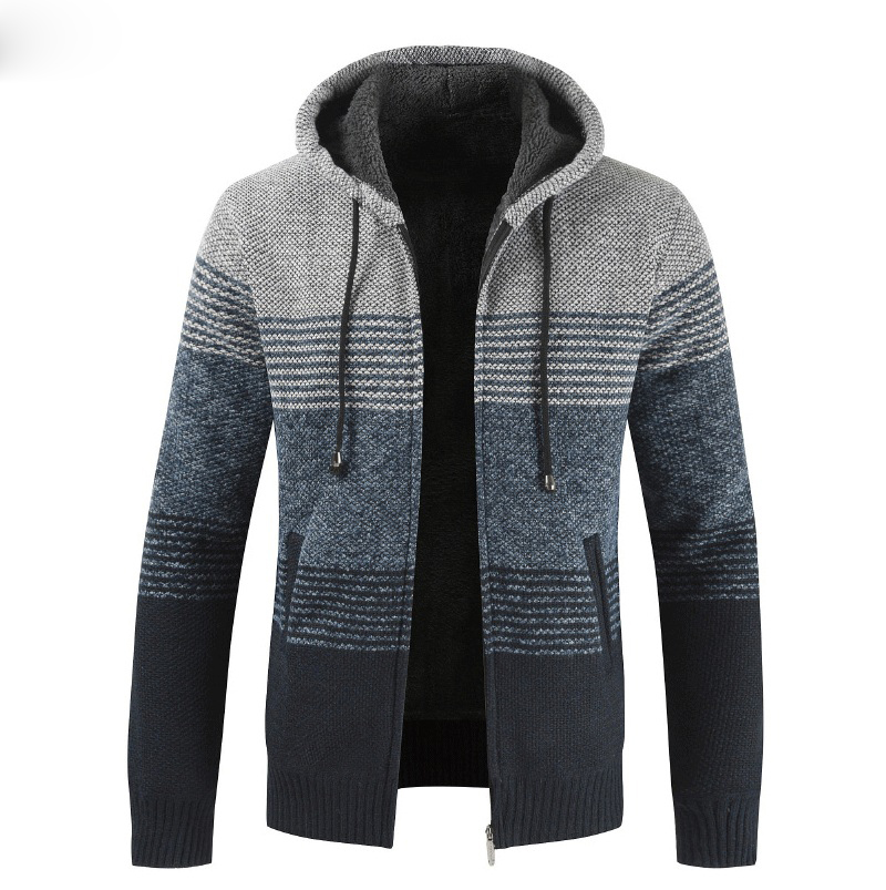 Thick Warm Hooded Cardigan Sweater 9
