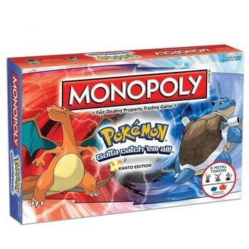 Pokemon Monopoly Pokemon All English Board Game Board card Game Family gathering christmas present 1