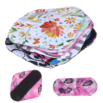 Reusable Cloth Menstrual Pads Organic Bamboo Inner Mama Pads Pantyliner For Light Flow Days image