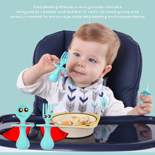 Infant Self Feeding Spoon Fork Utensils Baby First Training Eating Supplies BPA Free Baby Led Weaning for 6+ Month Baby Toddler baby led weaning
