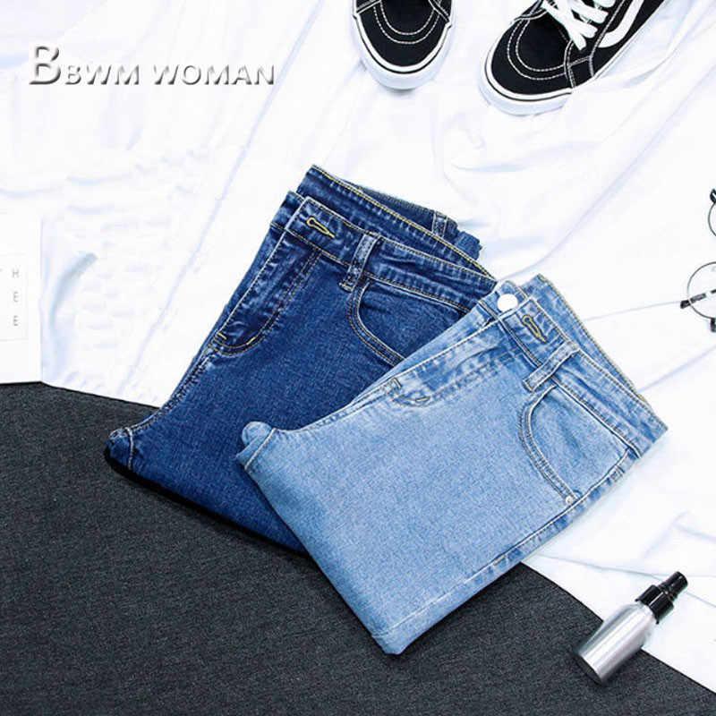 2019 frühling Dünne Feste Frauen Jeans 3 Farbe Kann Wählen Weiblichen Hosen Hosen