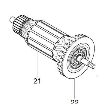 AC220-240V MAKITA 513873-7 ротор якорь электродвигателя для MT413 ротора