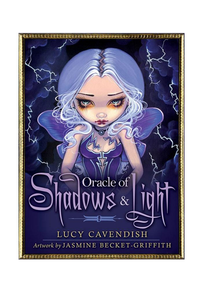 45Pcs Shadow And Light Oracle Cards Mysterious Fate Divination Tarot Cards Deck Board Game With Guidebook For Kids Amusing Games