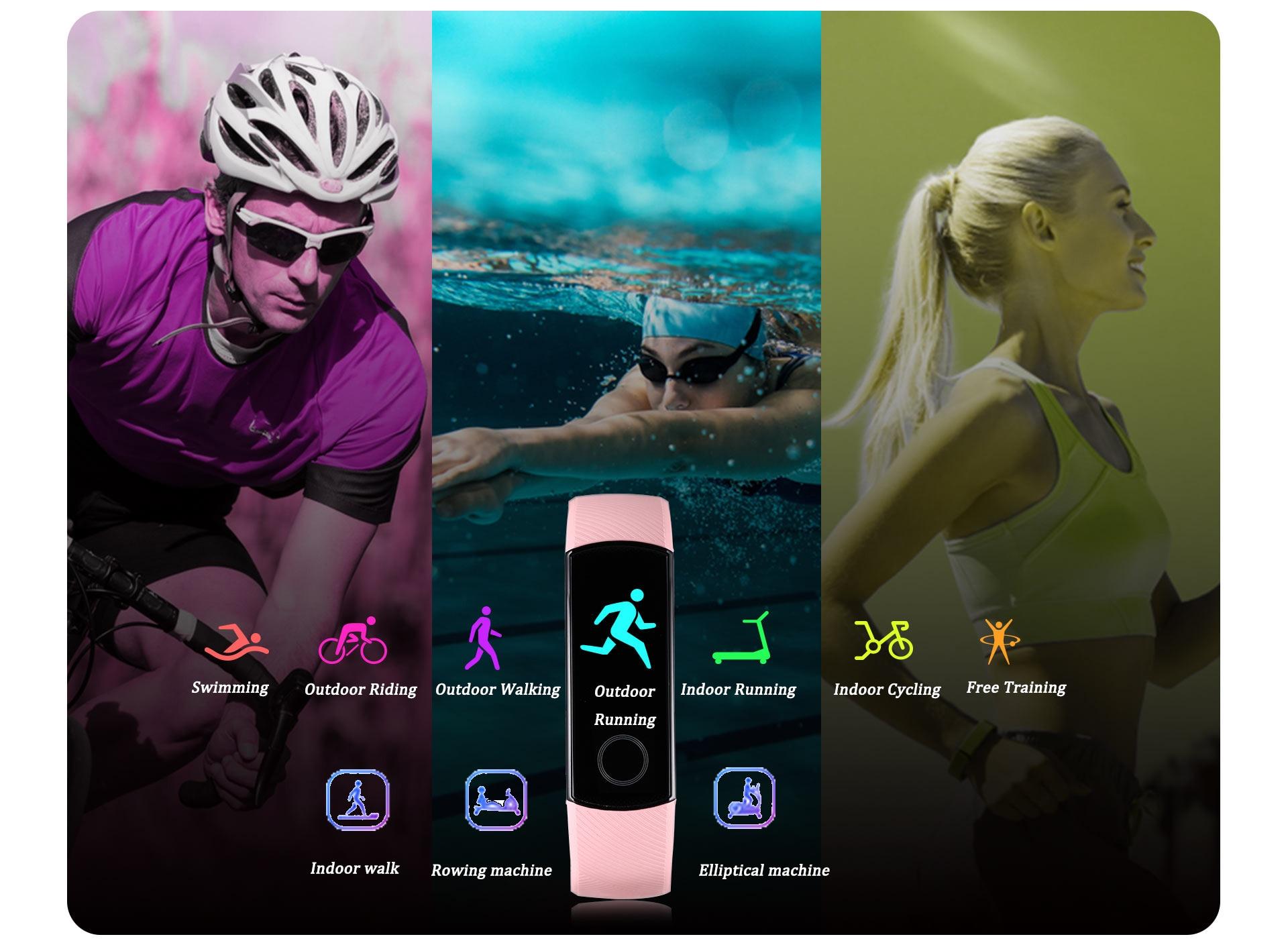 H8746967d44ac4e46bf9f2d72ed178576g global version Honor band 5 smart band AMOLED heart rate fitness sleep swimming sport blood oxygen tracker