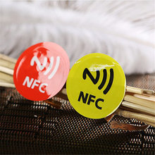 Waterproof PET Material 6 Colors NFC Stickers Smart Adhesive Ntag213 Tags Compatible with All Phones