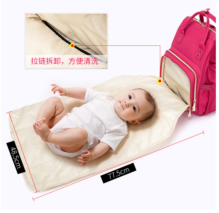 Maternity Diaper  Mummy  Bag With USB Large Nursing Travel Backpack Designer Stroller Baby Bag Baby Care Nappy Backpack