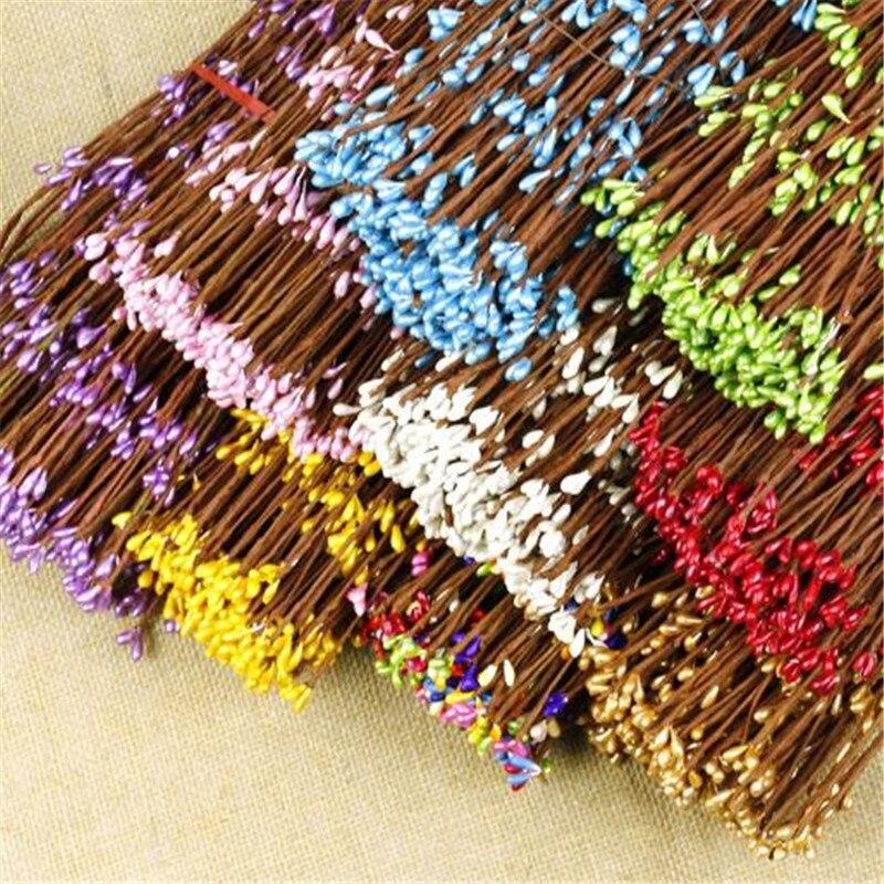 Ветки бутонов 12 шт. 40 см, искусственные цветы, ветки из железной проволоки, искусственные украшения для скрапбукинга, декоративный венок, ис...