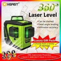 Fukuda 12 linhas MW 93T nível laser verde da bateria de lítio 360 vertical e horizontal auto nivelamento cruz nível laser 3d|Níveis de laser| |  -