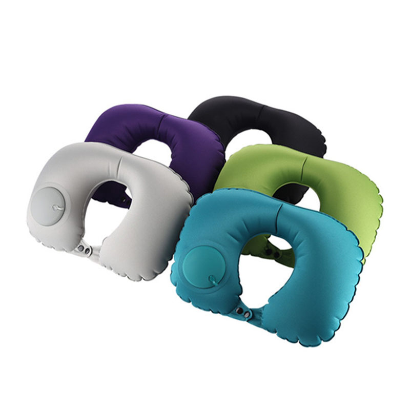 Press Inflatable U-shaped Pillow Inflatable Neck Pillow For Men And Women Outdoor Travel Pillow Automatic Inflatable Pillow