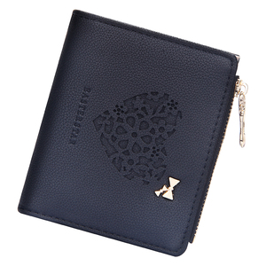 Cute Women Wallet Love Hollow Out Bow Short Zipper Coin Purse Multi Slots Credit Card Holder Female Clutch Bag for Travel 2020