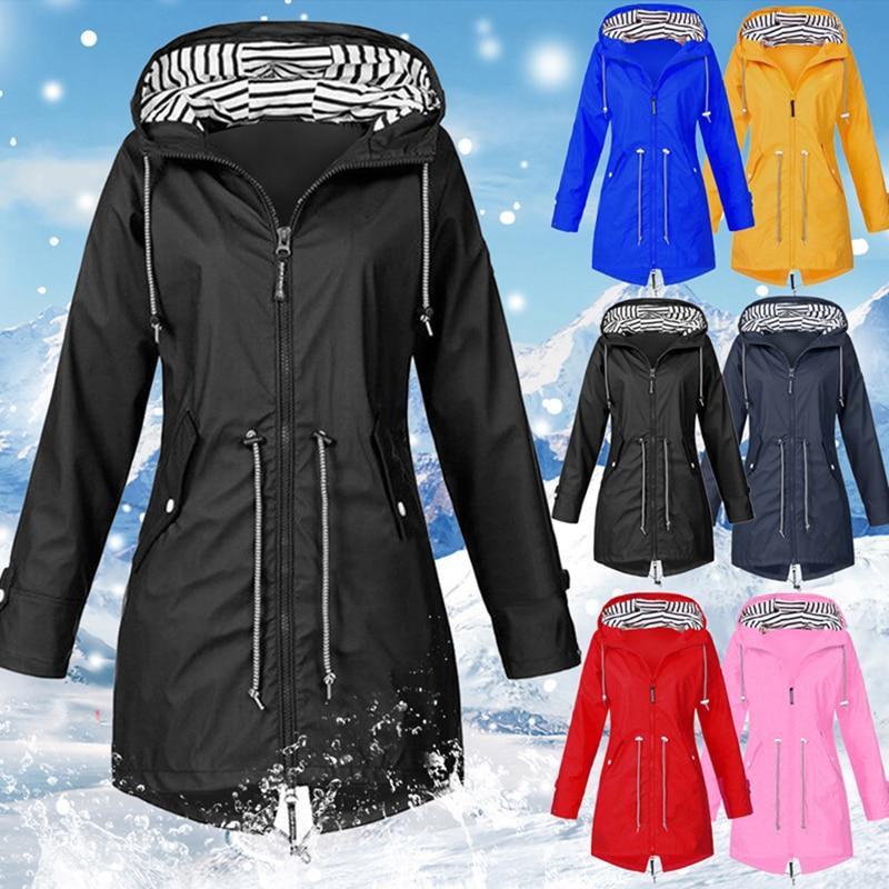 Vertvie 2019 Women Jacket Coat Waterproof Transition Jacket Outdoor Hiking Clothes Lightweight Raincoat Women's Raincoat