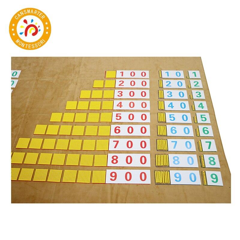 Montessori matériel mathématiques banque jeu avec tapis de travail bébé jouet enfants école enseignement aides préscolaire éducation précoce
