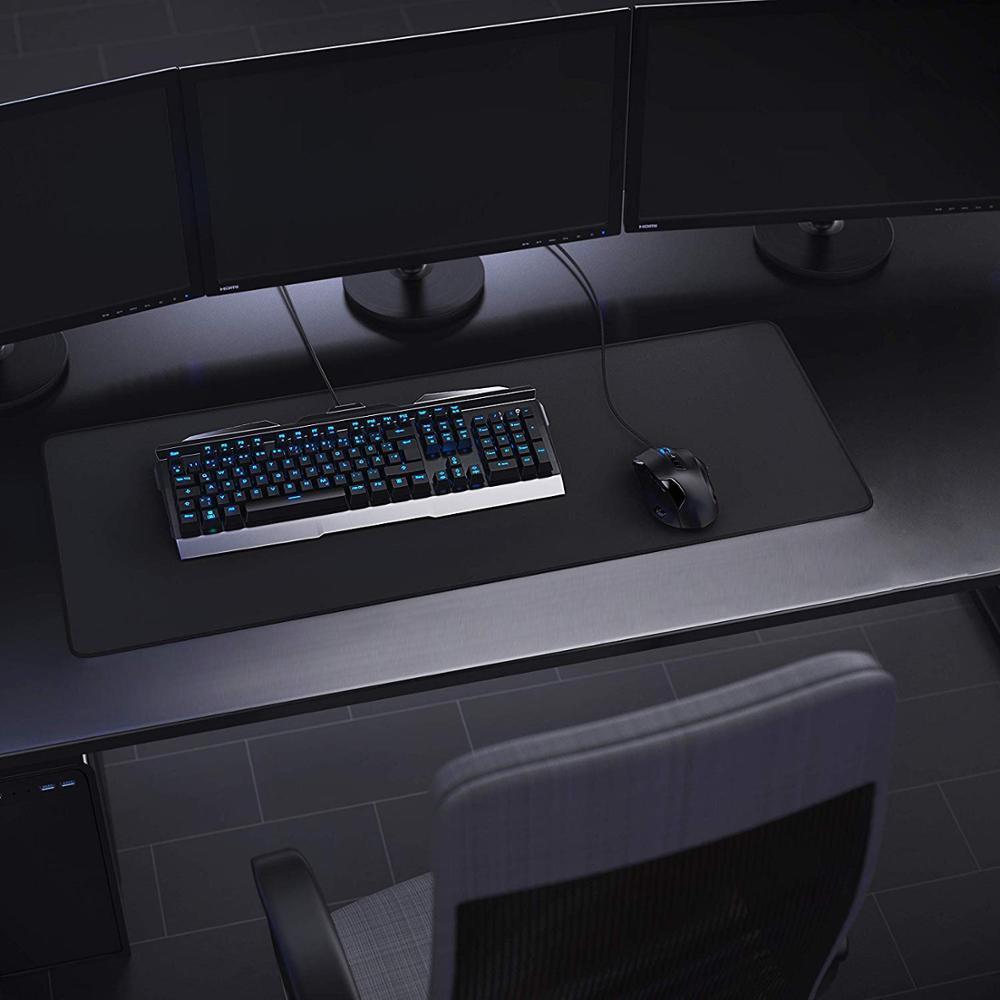 Большой компьютерный коврик для мыши Rakoon, противоскользящий игровой коврик для мыши из натурального каучука с обработанным краем-5
