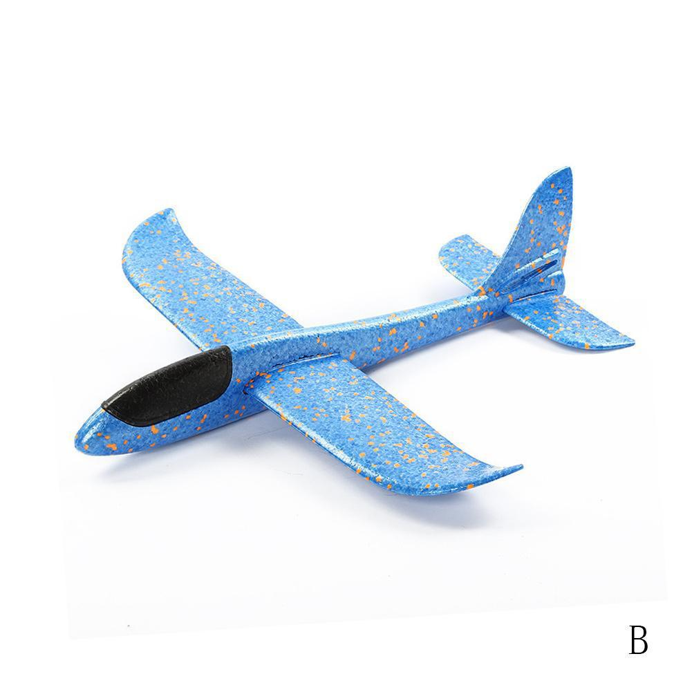 Ручной бросок самолет летающий планер самолеты EPP самолет из пеноматериала модель вечерние сумки наполнители детские игрушки открытый запуск игры игрушки 37or 48 см - Цвет: 37cm