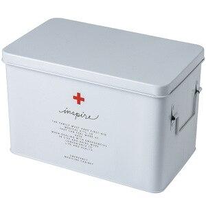 Image 5 - Medicine box household medicine box drug storage box child family size size portable outpatient emergency medical kit