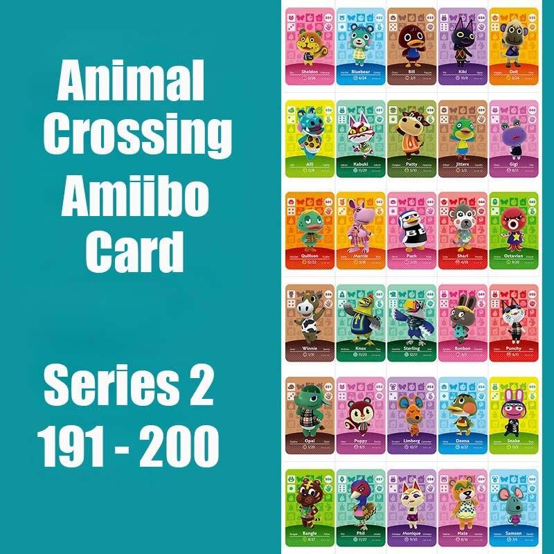 Series 2 (191 To 200) Animal Crossing Card Amiibo Card Work For NS 3DS Switch Game Animal Crossing Amiibo Card Original Function