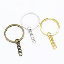 50pcs Metal DIY Jewelry Making Split Keychain Ring Parts Key Chains Circle with 30mm Open Jump Ring  Wholesale Lots Bulk цена в Москве и Питере