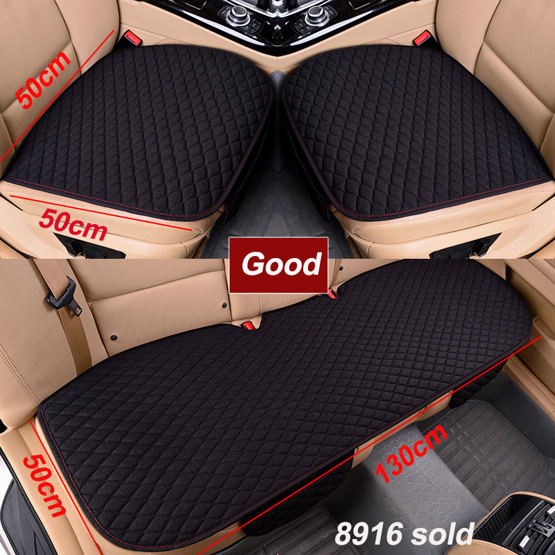 Car Seat Cover Four Seasons Front Rear Flax Cushion Breathable Protector Mat Pad