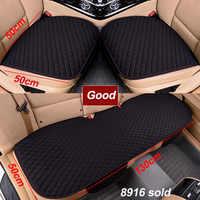 Funda de asiento de coche tela de lino cuatro estaciones delantero trasero cojín de lino transpirable Protector alfombrilla accesorios de automóvil tamaño Universal
