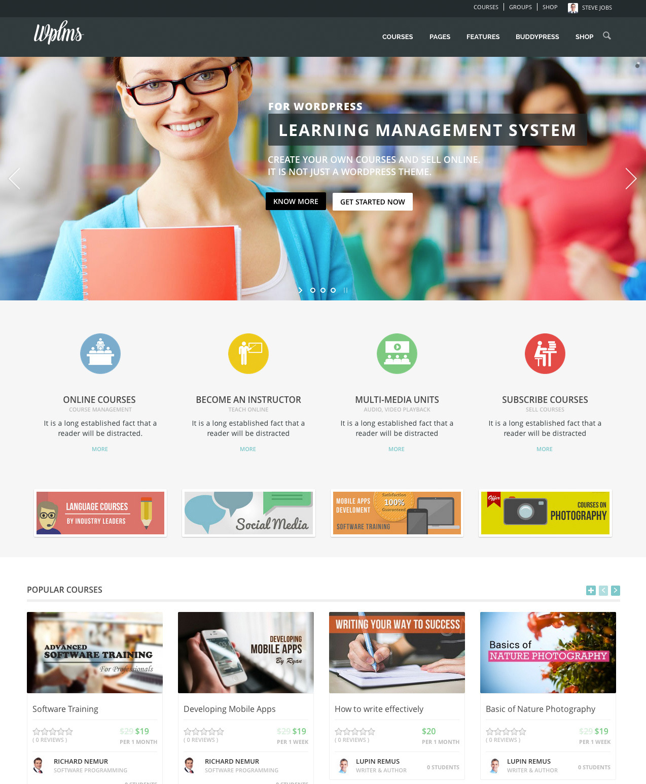 Wordpress的WPLMS在线教学教育培训机构中文汉化