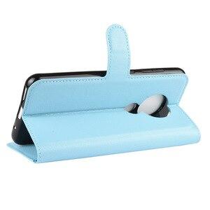 Image 5 - 50 unids/lote Litchi patrón Flip PU cuero billetera teléfono funda para Nokia 6,2 Lychee grano cubierta
