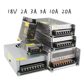 18 V transformatory oświetleniowe 18 V V 2A 3A 5A 10A 20A transformatory oświetleniowe zasilanie 18 v AC 220 V zasilacz do Led Strip tanie i dobre opinie DC 18V ROHS Aluminum shell Power Supply 3V 10A 20A 25A 40A 3 Months 0 5kgkgkgkg 18V 2A 3A 5A 10A 20A AC 100-220V Lighting Transformer