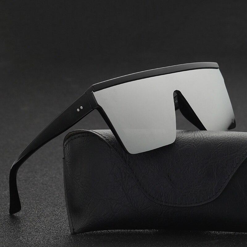 2020 novo estilo masculino flat top óculos de sol homens marca preto quadrado tons uv400 gradiente óculos de sol para homens legal uma peça designer